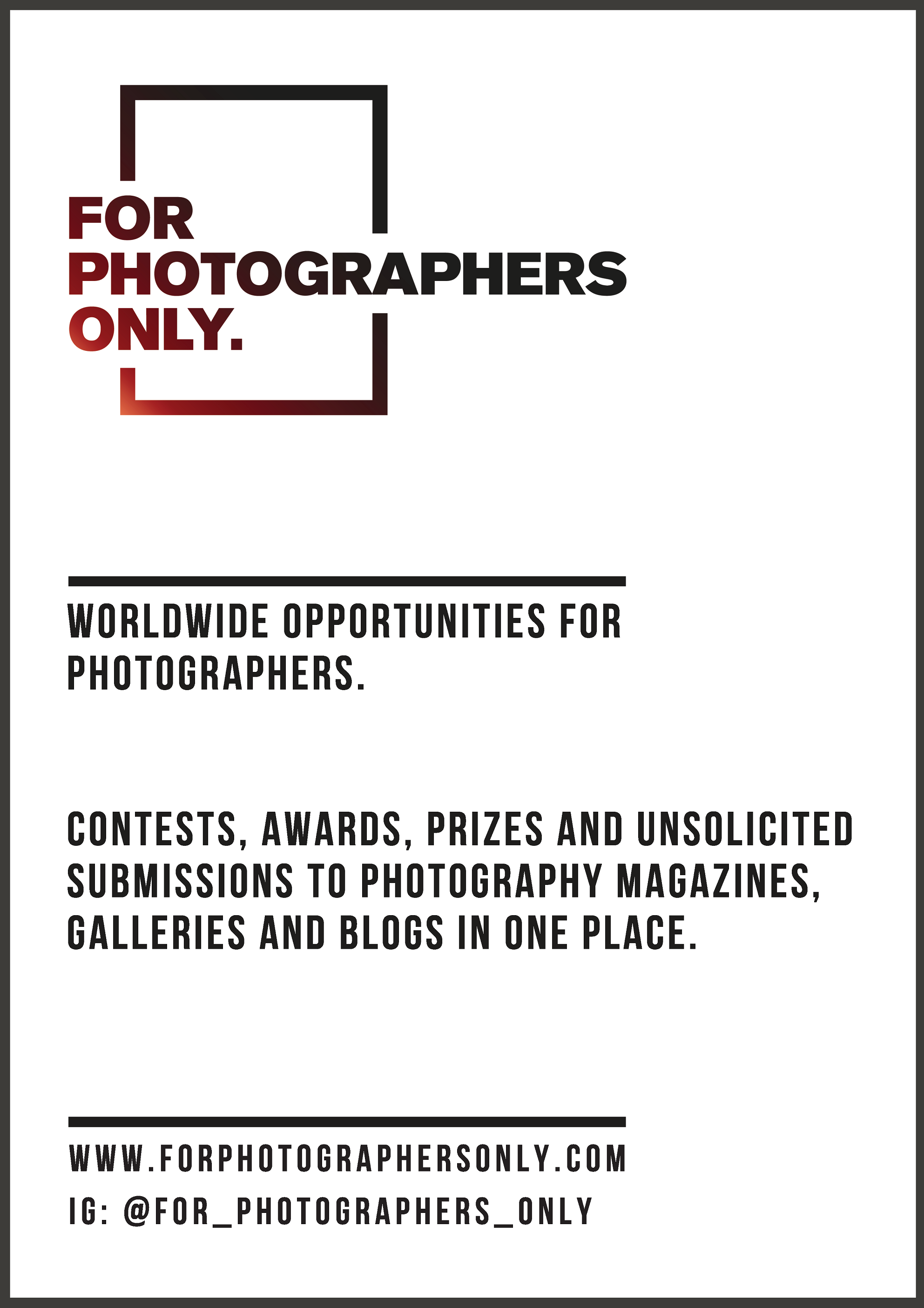 For Photographers Only