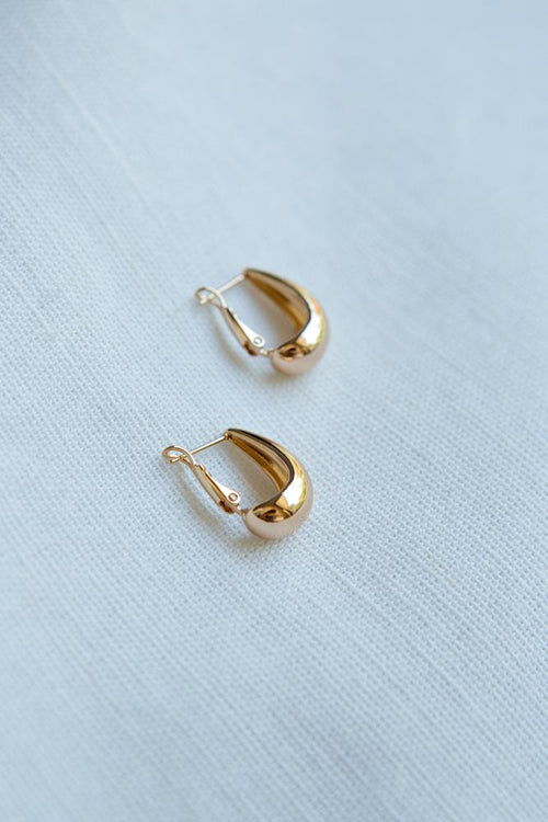 Small Gold Cashew Hoop Earrings