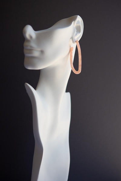 Abstract Elongated Hoop (Pink) - Wynter Bloom