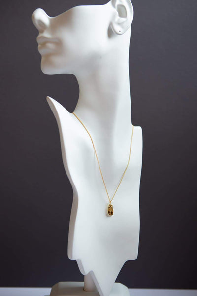 Gold Woman Body Pendant Necklace 925 Sterling Silver