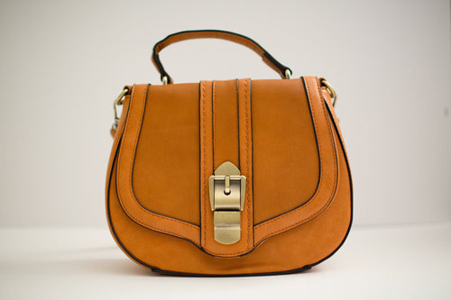 Caramel Crossbody Bag Front View