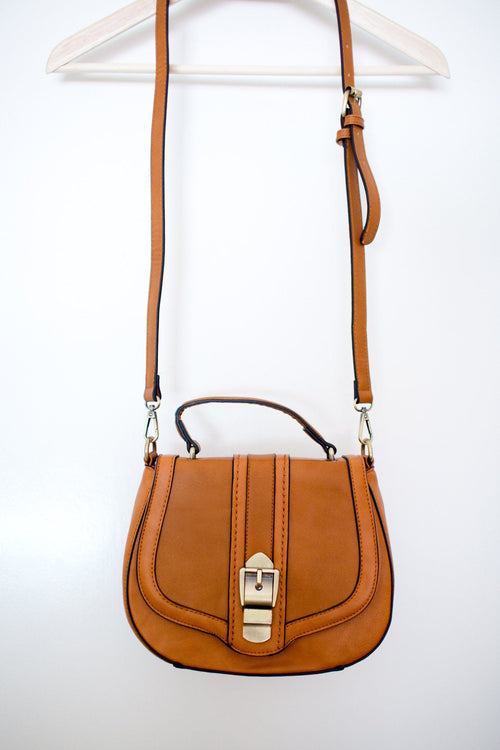 Caramel Crossbody Bag with Strap