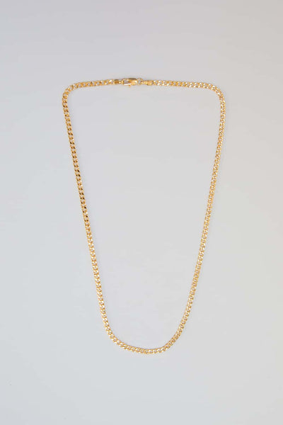 3mm Gold Filled Curb Chain Necklace