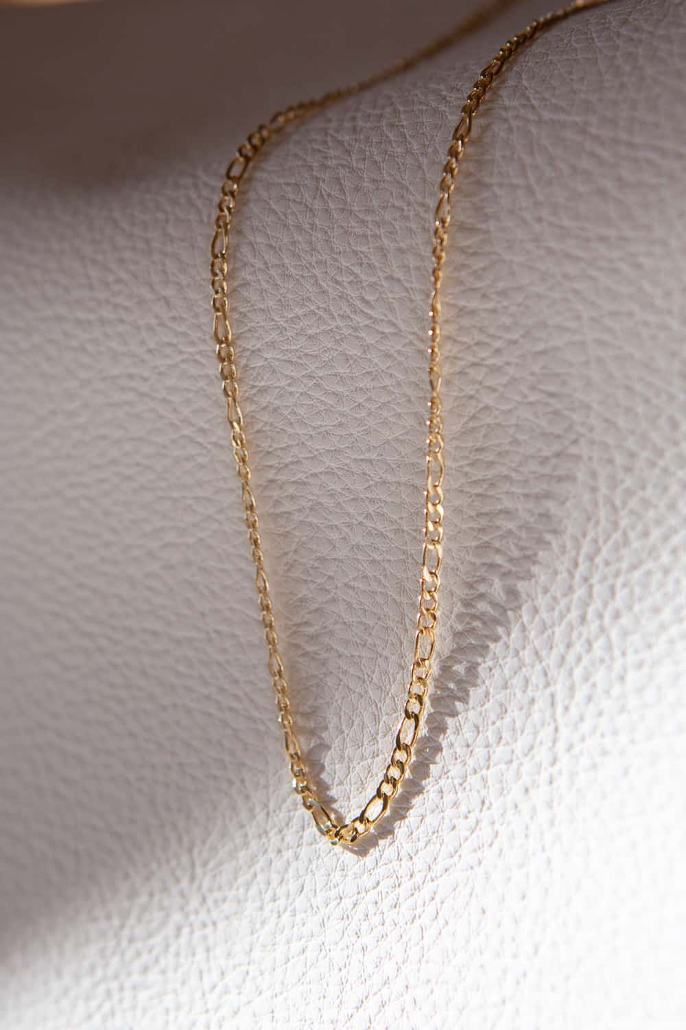 2.5mm Gold Filled Figaro Chain Necklace