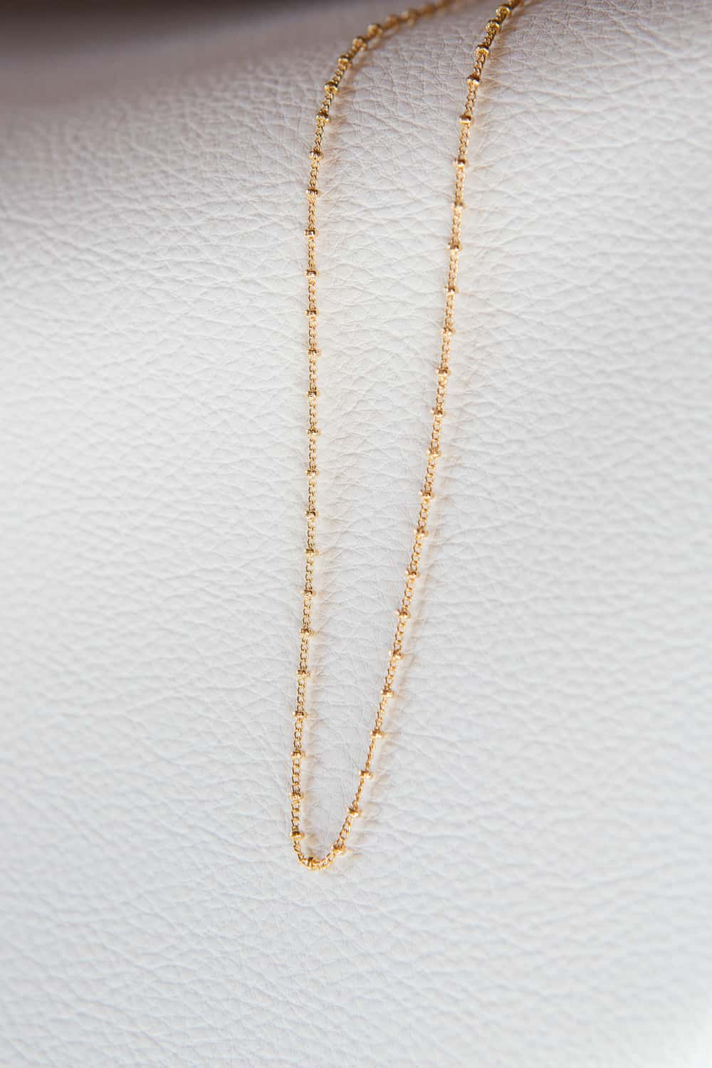 1.75mm Gold Filled Satellite Bead Chain Necklace