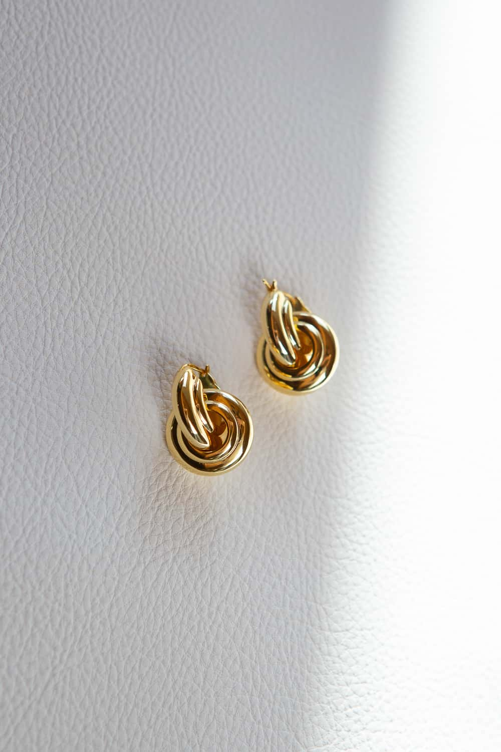 Gold Two Piece Door Knocker Earrings