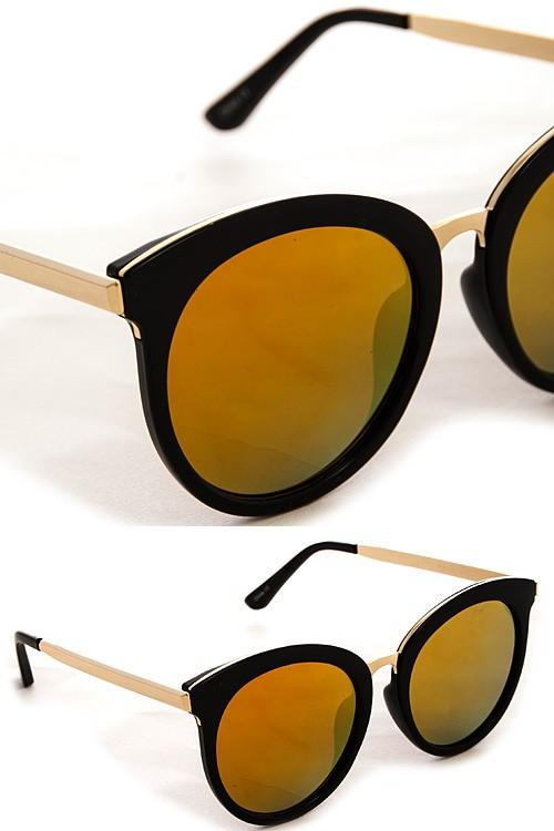 Mirrored Oversized Cat Eye Sunglasses
