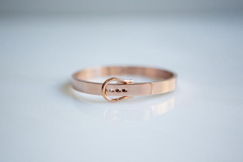 Minimalist Belt Buckle Bangle Bracelet