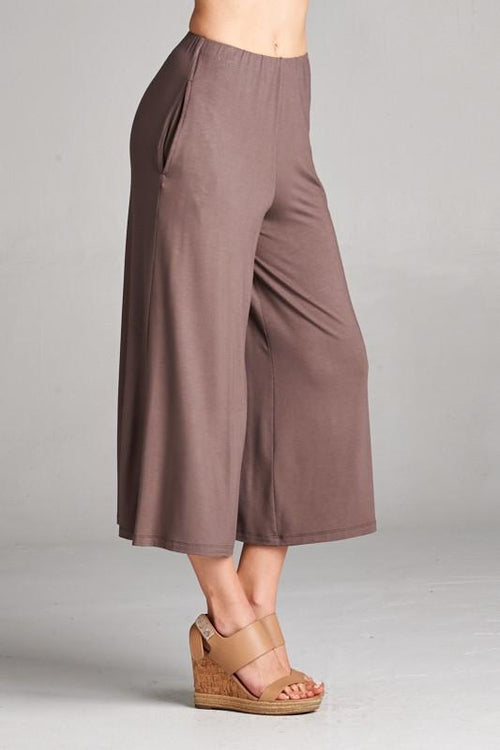 Wide Leg Culottes Side View
