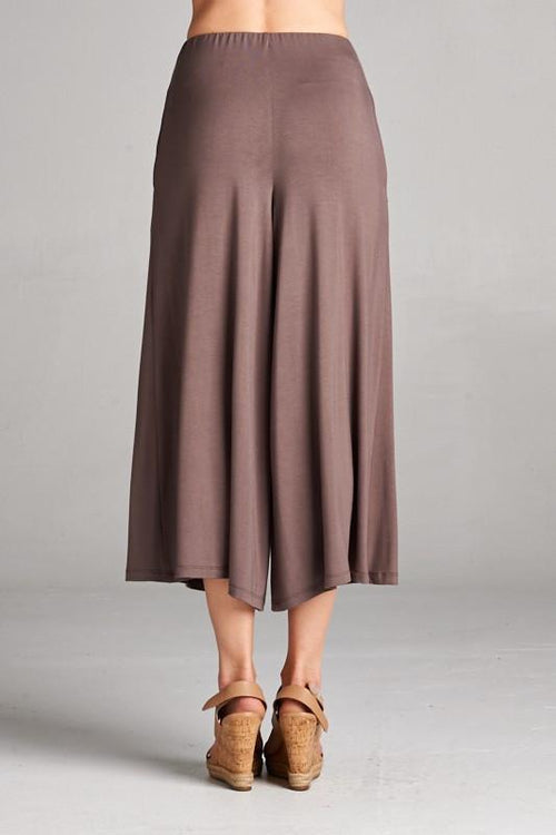 Wide Leg Culottes Back View