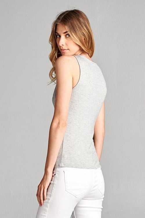 Tank Top with Criss Cross Detail Side View