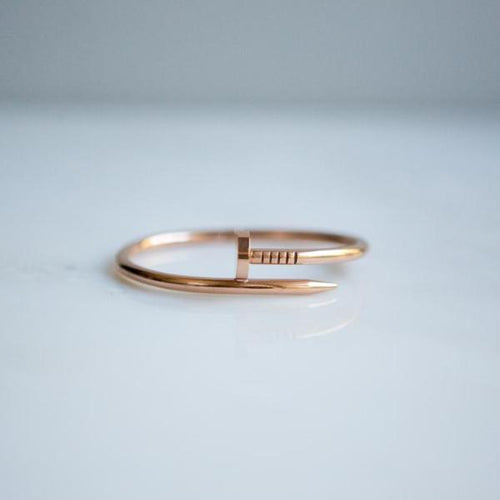Minimalist Rose Gold Nail Bangle