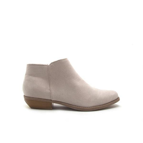 Light Grey Suede Ankle Bootie - Inner Side View