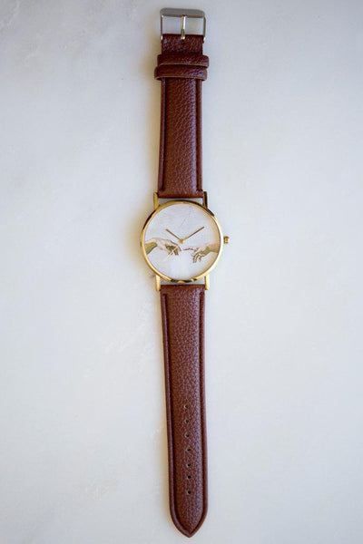 Michelangelo Creation of Adam Watch (Brown)