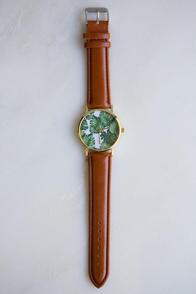 Monstera Leaf Watch (Brown)
