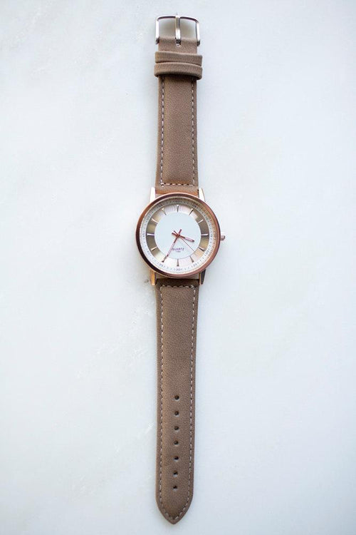 Brown Minimalist Watch