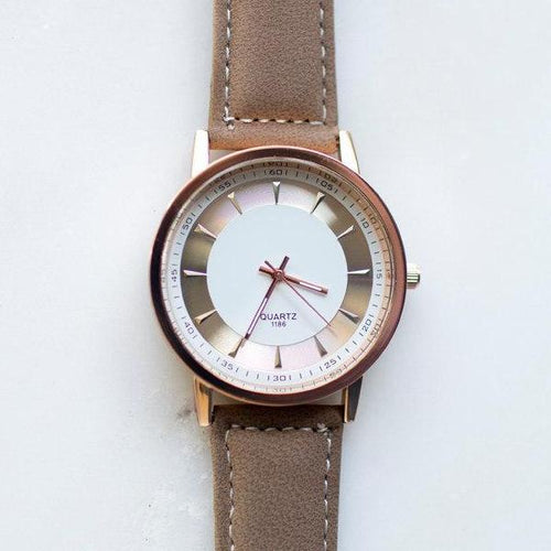 Brown Minimalist Watch - Wynter Bloom