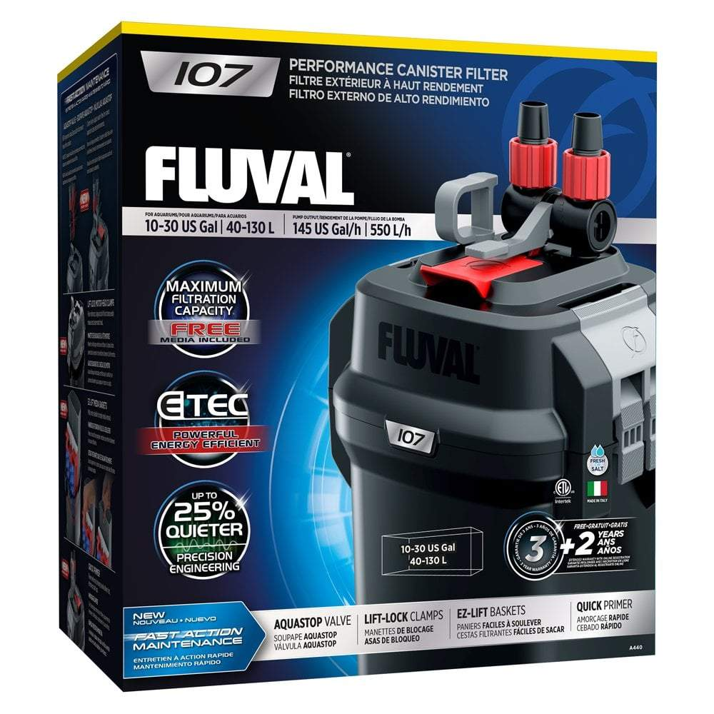 Fluval 107 External Aquarium Filter-External Filters-Lincs Aquatics Ltd