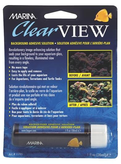 Marina ClearView, background adhesive solution-Hagen-Lincs Aquatics Ltd