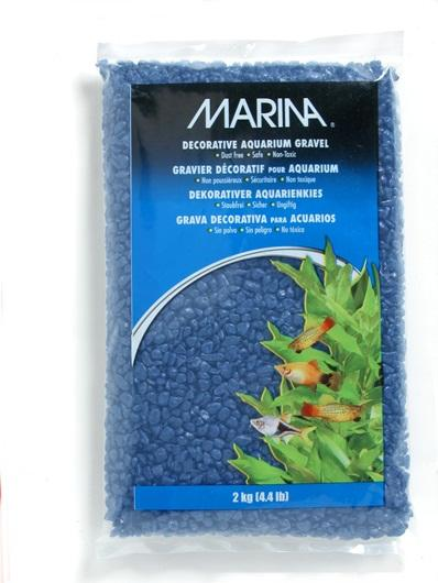 Marina Decorative Aquarium Gravel Blue 2kg-Substrates-Lincs Aquatics Ltd