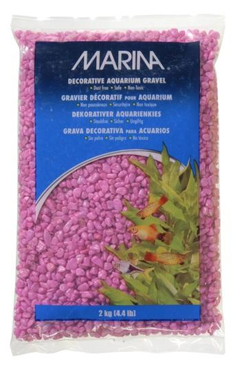Marina Decorative Aquarium Gravel Pink 2kg-Substrates-Lincs Aquatics Ltd