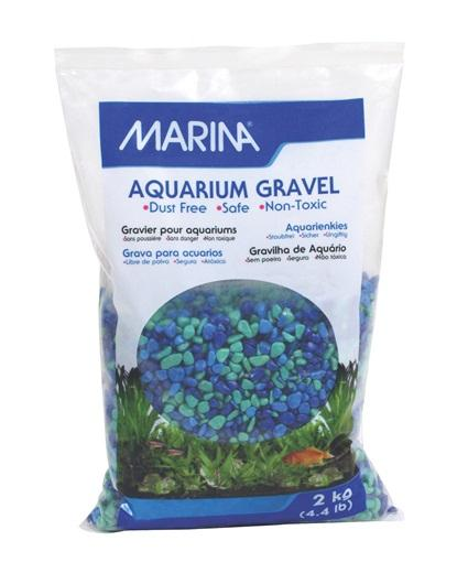 Marina Decorative Aquarium Gravel Tri Colour Blue 2kg