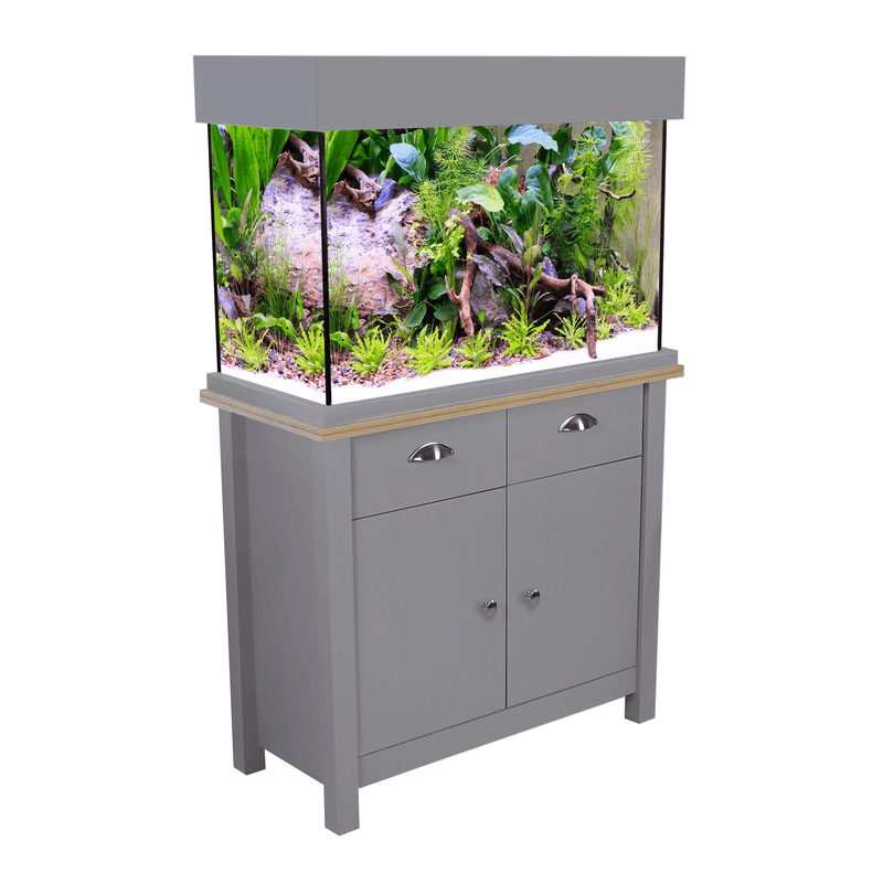 Aqua One Oak Style 145 Aquarium & Cabinet - Flint Grey-Oak Style-Lincs Aquatics Ltd