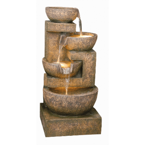 Hamac 4 Granite Copper Bowls Water Feature