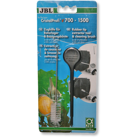 JBL CPe Rubber tip extractor tool & Cleaning brush, Pulling aid and cleaning brush for impeller bearings in external filters-External Filters-Lincs Aquatics Ltd