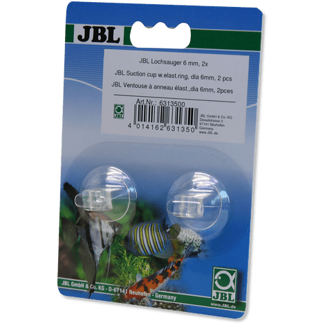 JBL suction holder with hole, 5&6 mm-Pipework-Lincs Aquatics Ltd