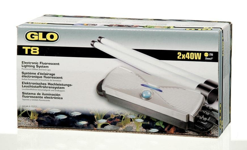 GLO T8 Electronic Fluorescent Lighting System for 2 x 40 W T8