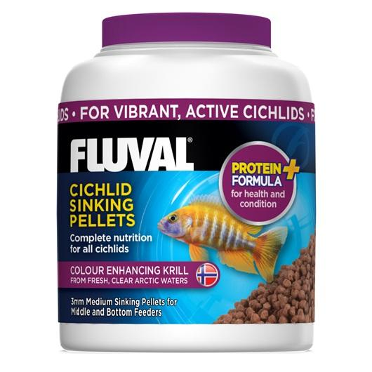 Fluval Cichlid Small Sinking Pellets 150g-Dried Food-Lincs Aquatics Ltd
