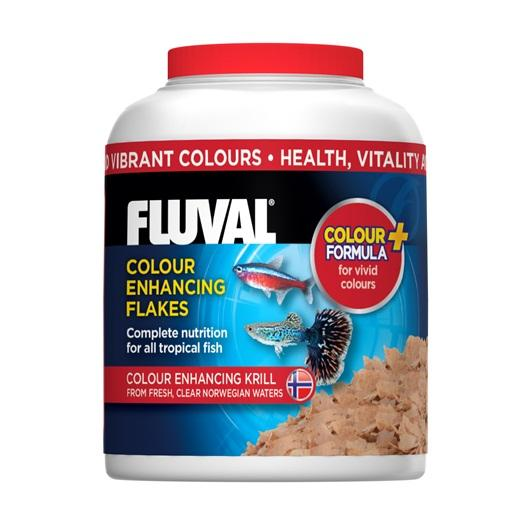 Fluval Colour Enhancing Fish Flakes 32 g-Dried Food-Lincs Aquatics Ltd