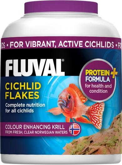 Fluval Cichlid Flakes 32g-Dried Food-Lincs Aquatics Ltd