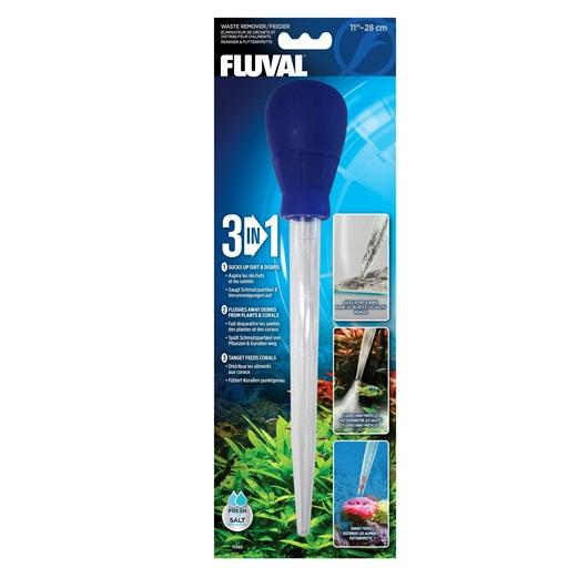 "Fluval 3-in-1 Waste Remover/ Feeder - 28 cm (11"")-Feeding Accessories-Lincs Aquatics Ltd"