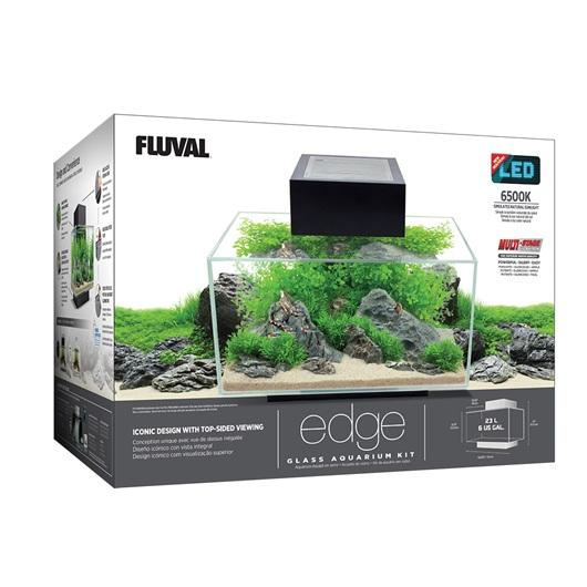 Fluval EDGE Aquarium Kit 23L Gloss White-Small Fluval Freshwater Aquariums-Lincs Aquatics Ltd