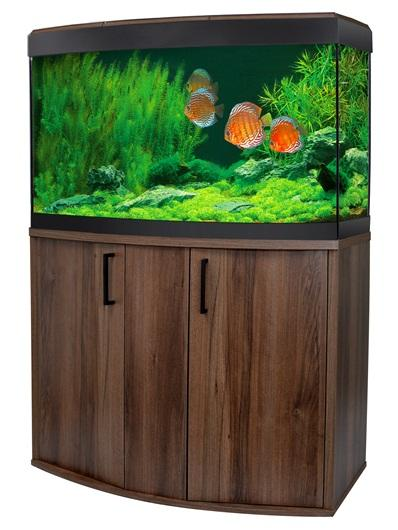 Fluval Vicenza 180 LED Aquarium and Cabinet Walnut