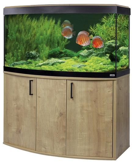 Fluval Vicenza 260 LED Aquarium and Cabinet Oak