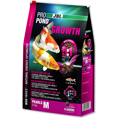 JBL PROPOND GROWTH M 2.5KG-JBL Pond Food-Lincs Aquatics Ltd
