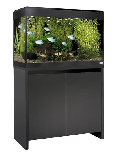 Fluval Roma 125 NEW Bluetooth LED Aquarium and Cabinet Black-Fluval Freshwater Aquariums-Lincs Aquatics Ltd