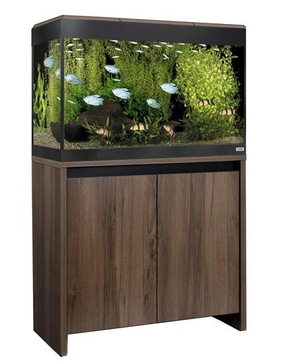 Fluval Roma 125 NEW Bluetooth LED Aquarium and Cabinet Walnut-Hagen-Lincs Aquatics Ltd