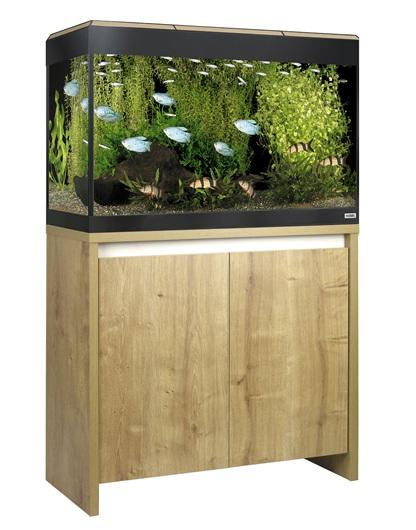 Fluval Roma 125 NEW Bluetooth LED Aquarium and Cabinet Oak-Hagen-Lincs Aquatics Ltd