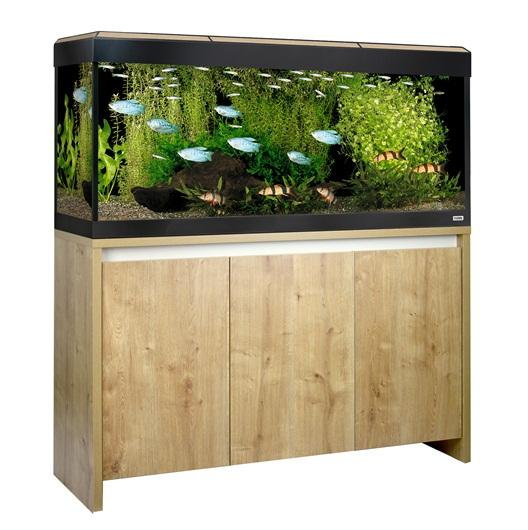 Fluval Roma 240 NEW Bluetooth LED Aquarium and Cabinet Oak-Hagen-Lincs Aquatics Ltd