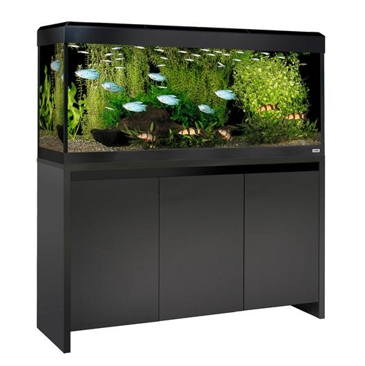 FLUVAL ROMA 240 NEW BLUETOOTH LED AQUARIUM AND CABINET Black