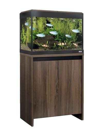 Fluval Roma 90 LED Aquarium and Cabinet Walnut