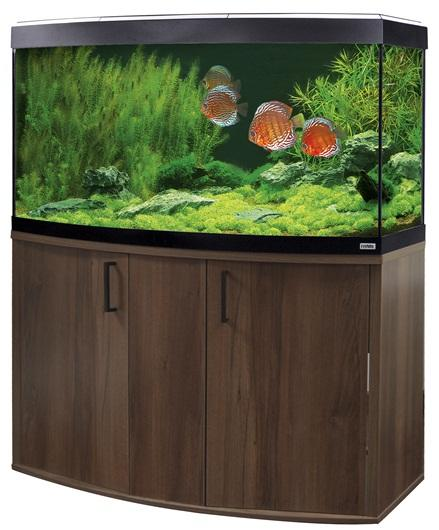 Fluval Vicenza 260 LED Aquarium and Cabinet Walnut