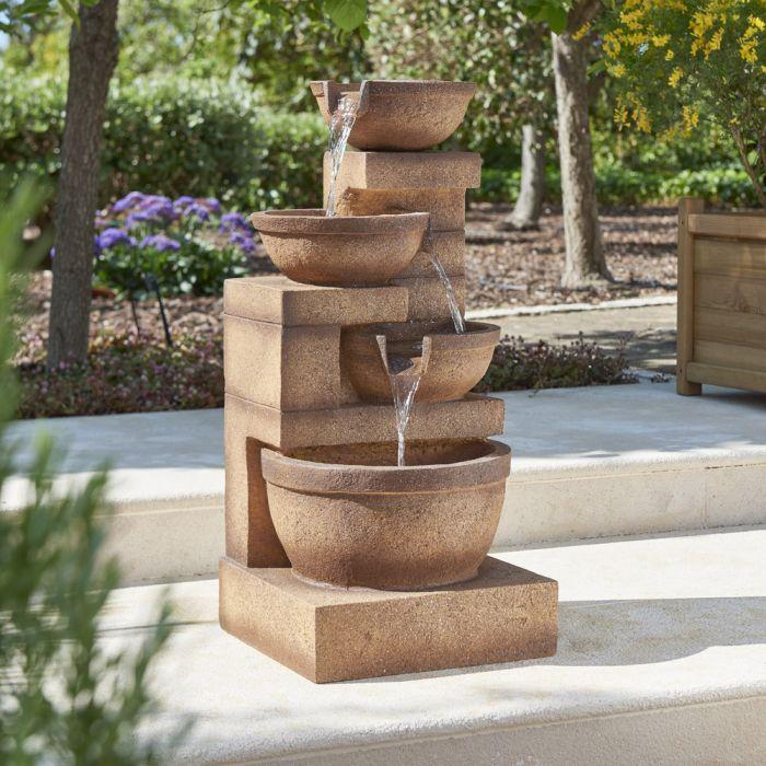 Hamac 4 Granite Copper Bowls Water Feature-Water Feature-Lincs Aquatics Ltd