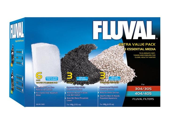 Fluval Extra Value Essential Media Pack 305/405, 306/406