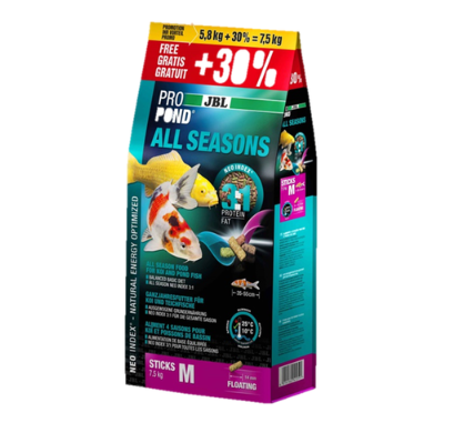 JBL PROPOND ALL SEASONS M 7.5kg (including 30% extra free)-JBL Pond Food-Lincs Aquatics Ltd