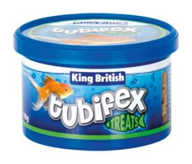 King British Tubifex Treats 35g-Fish Food-Lincs Aquatics Ltd